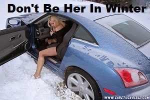 blonde_car_stuck_girl_stuck_in_snow_013